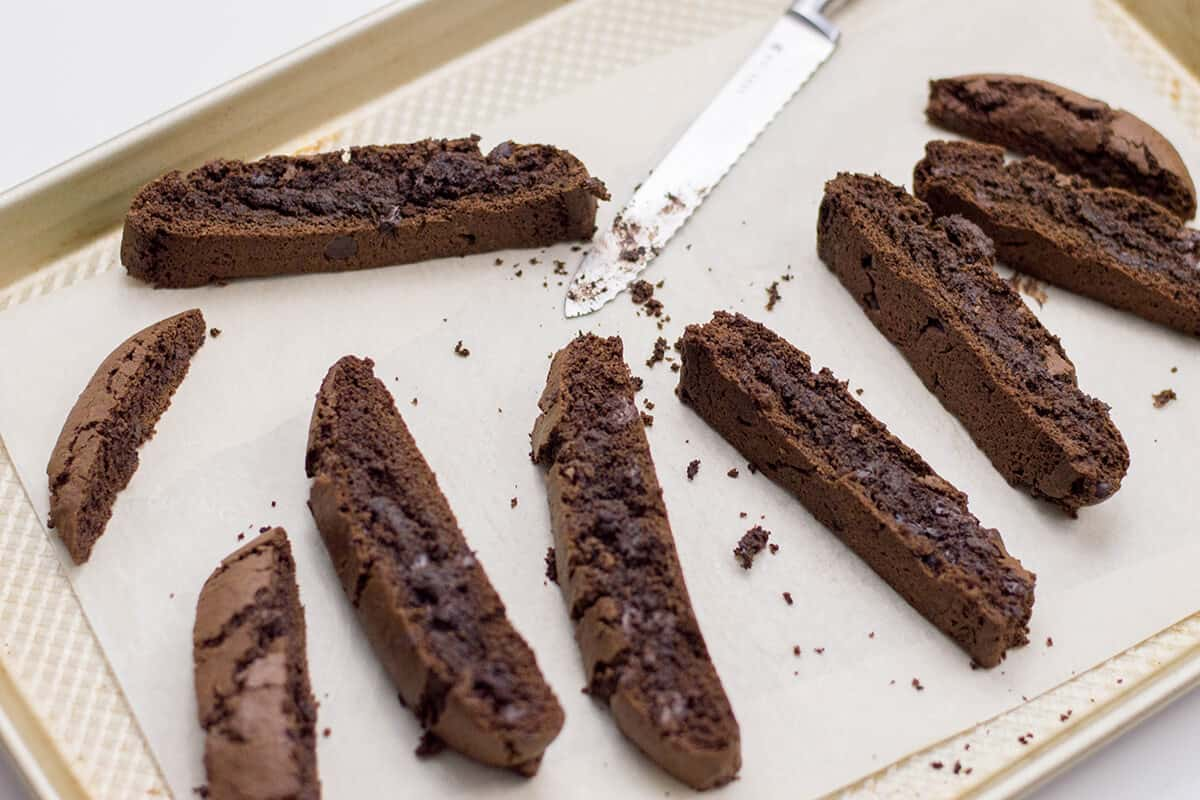 Enjoy our chocolate biscotti recipe: a delicious treat for your holiday dessert table.