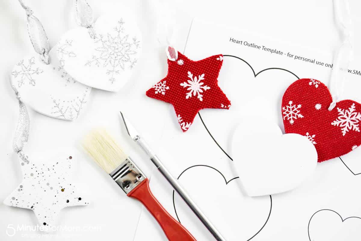 Free Printables for DIY Foam Core Christmas Ornaments