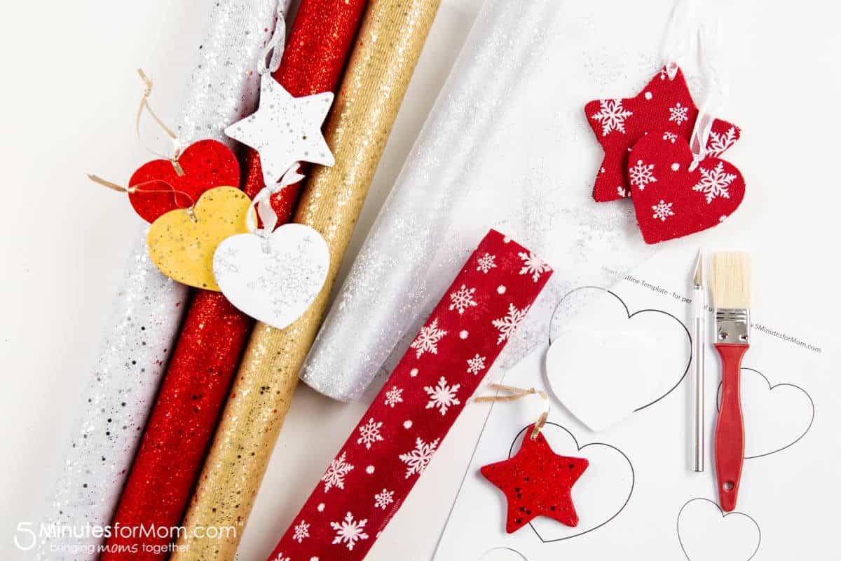 Free Printables for homemade Christmas ornaments