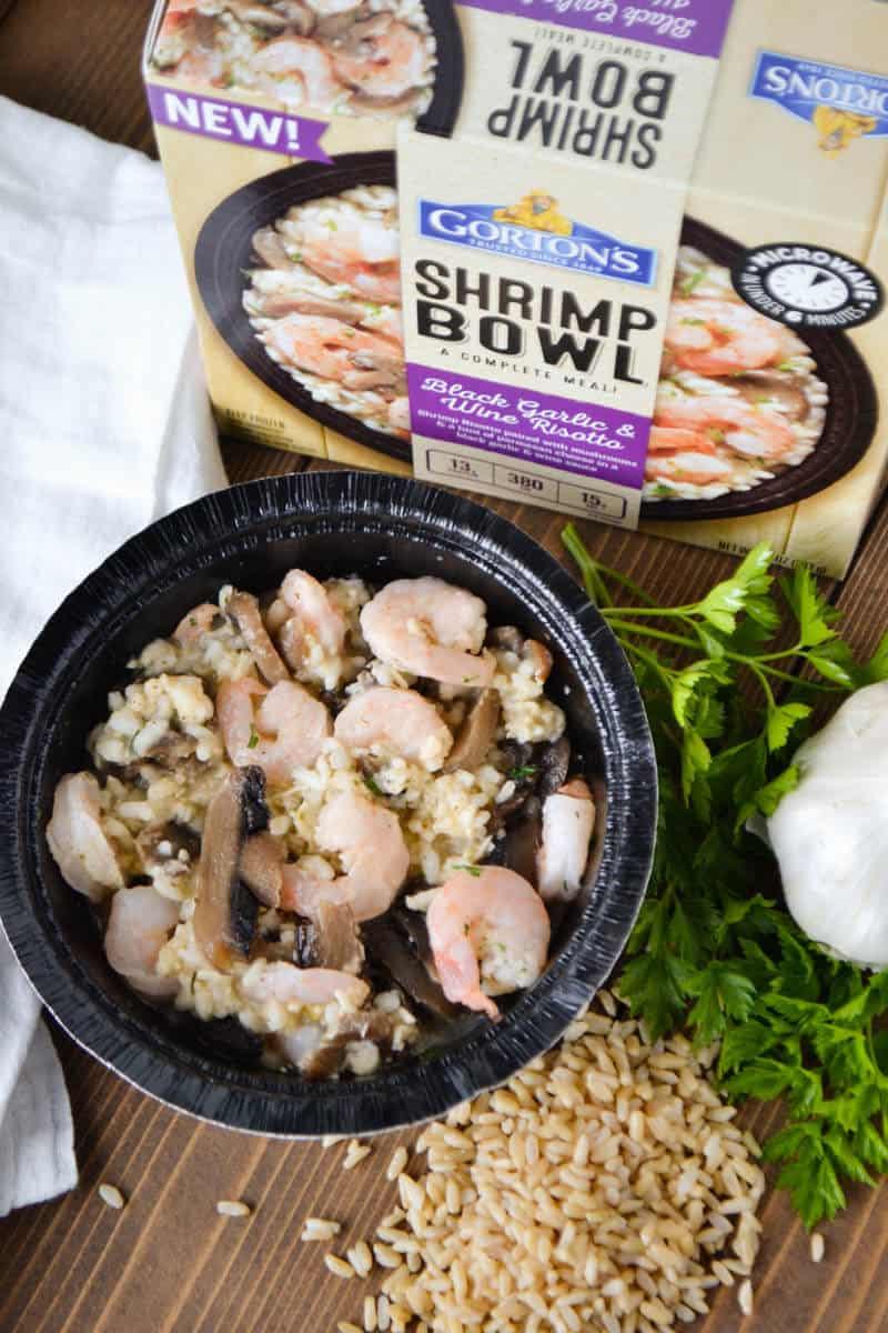 Gortons Shrimp Bowl - Black Garlic and Wine Risotto