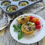 Breakfast Egg Muffins Recipe - Loaded with Sausage and Veggies