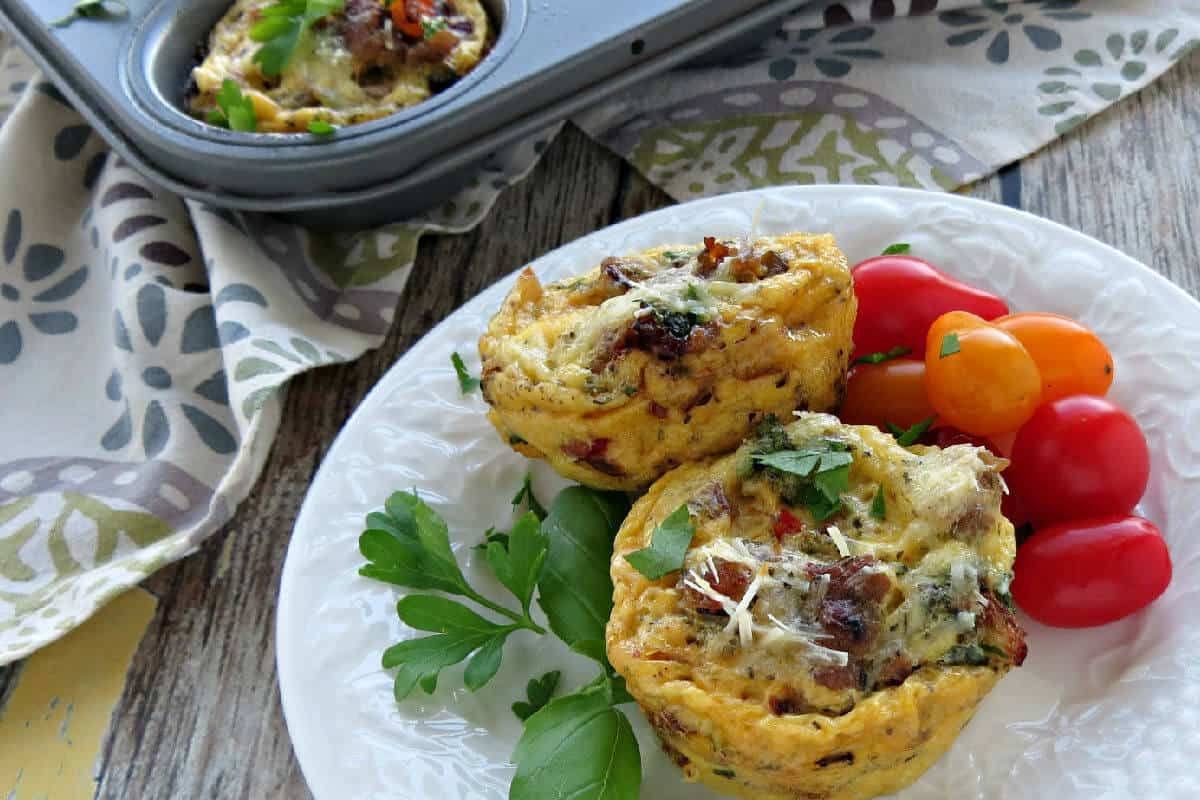 Loaded Sausage and Veggie Egg Muffins - High Protein Breakfast for a Healthy Start to the Day