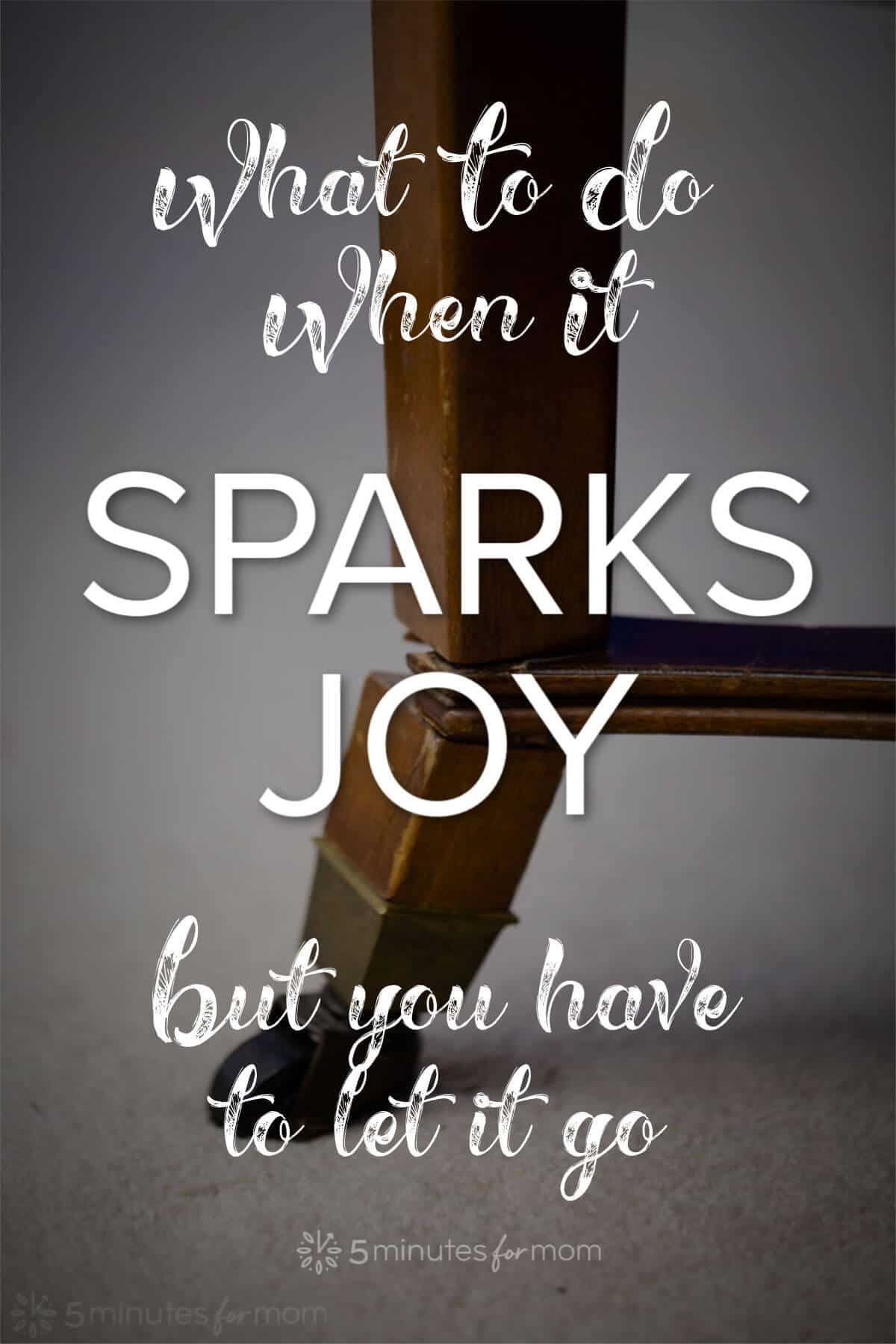 What to do when it sparks joy but you have to let it go... #mykonmari #konmari