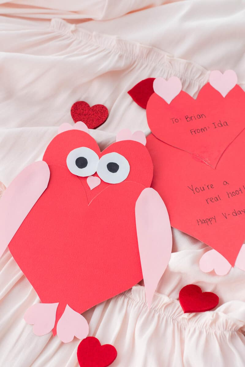 Owl Heart Shape Valentine's Day Card