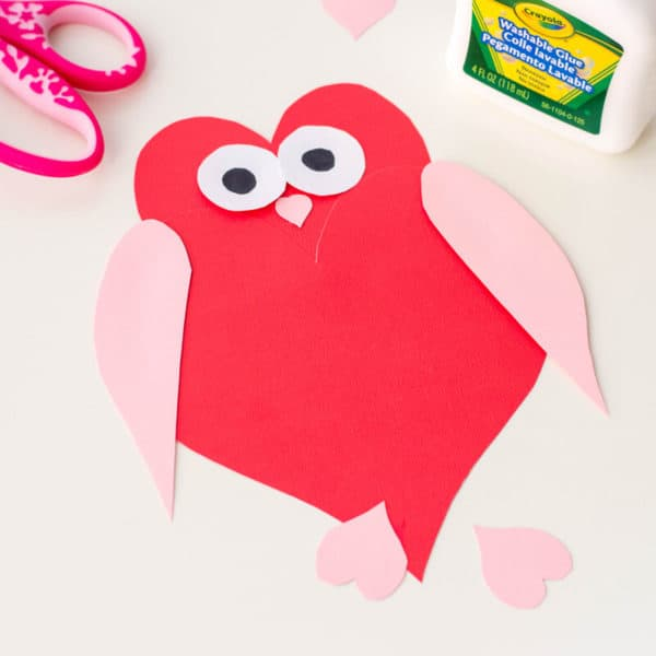 Owl Heart Shape Paper Craft – DIY Valentine's Day Cards