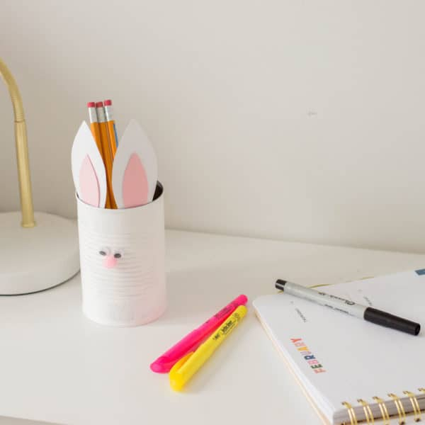 Easter Craft for Kids: Bunny Pencil Holder