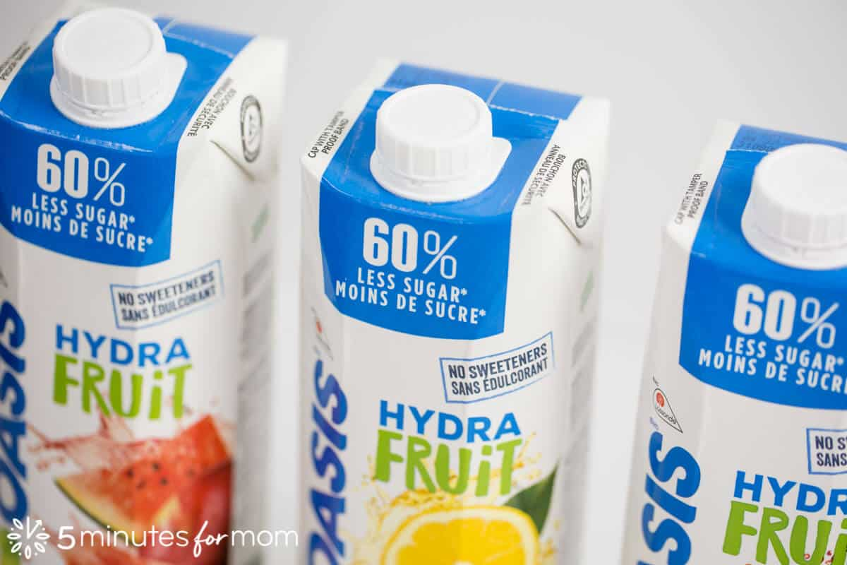 Oasis HydraFruit - reduced sugar juice made with fruit juice and filtered water