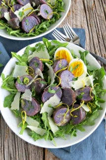 Purple Potato Salad with Herb Vinaigrette