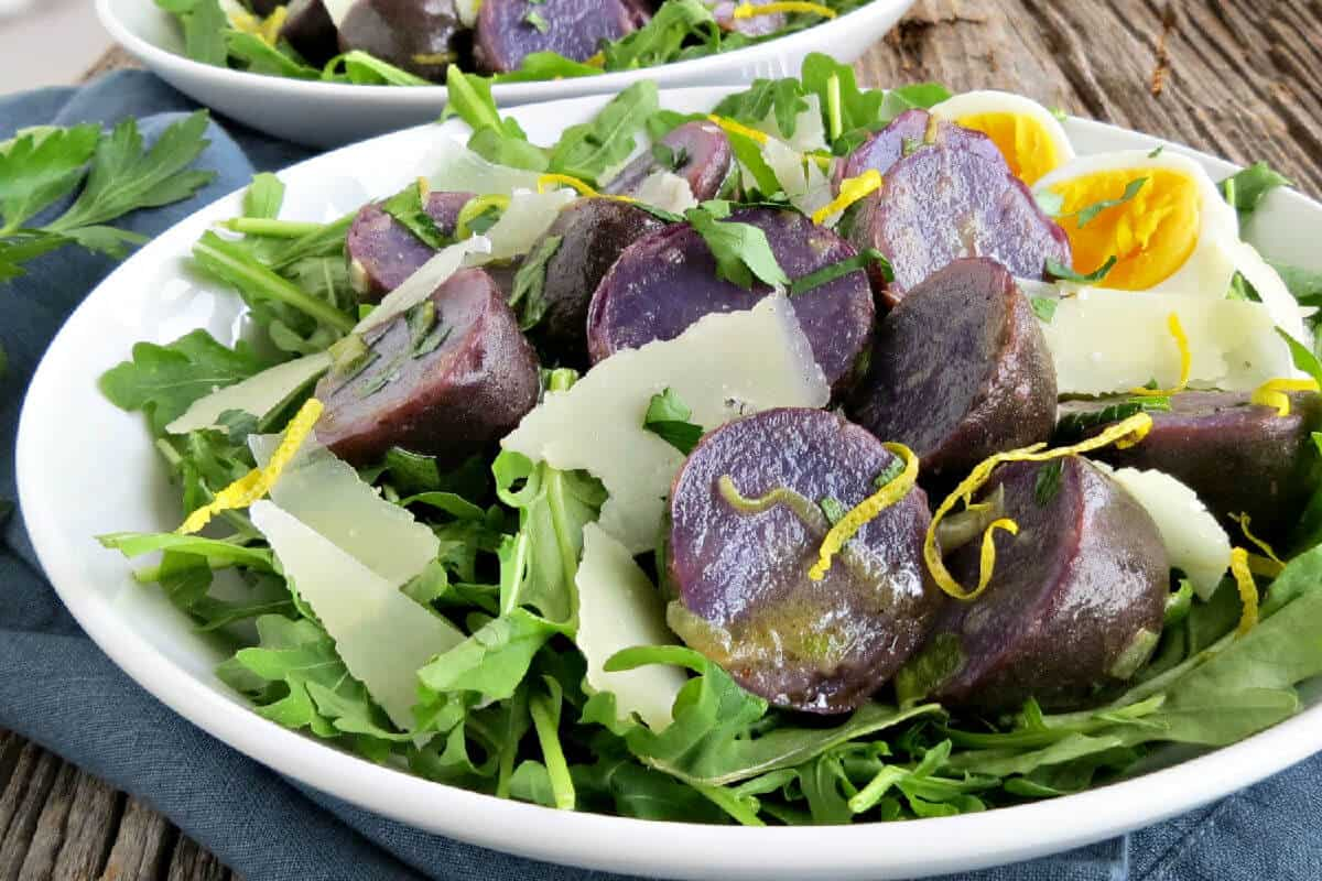 Purple Potato Salad with Lemon and Herb Vinaigrette