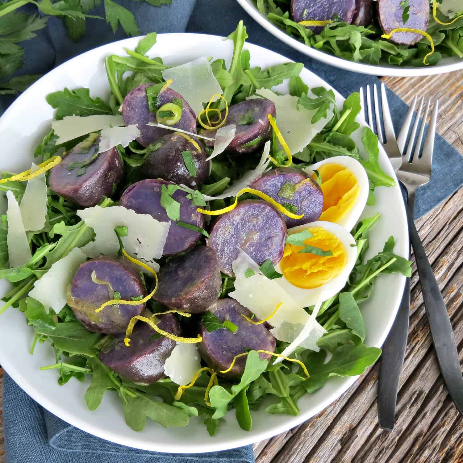 Purple Potato Salad with Vinaigrette