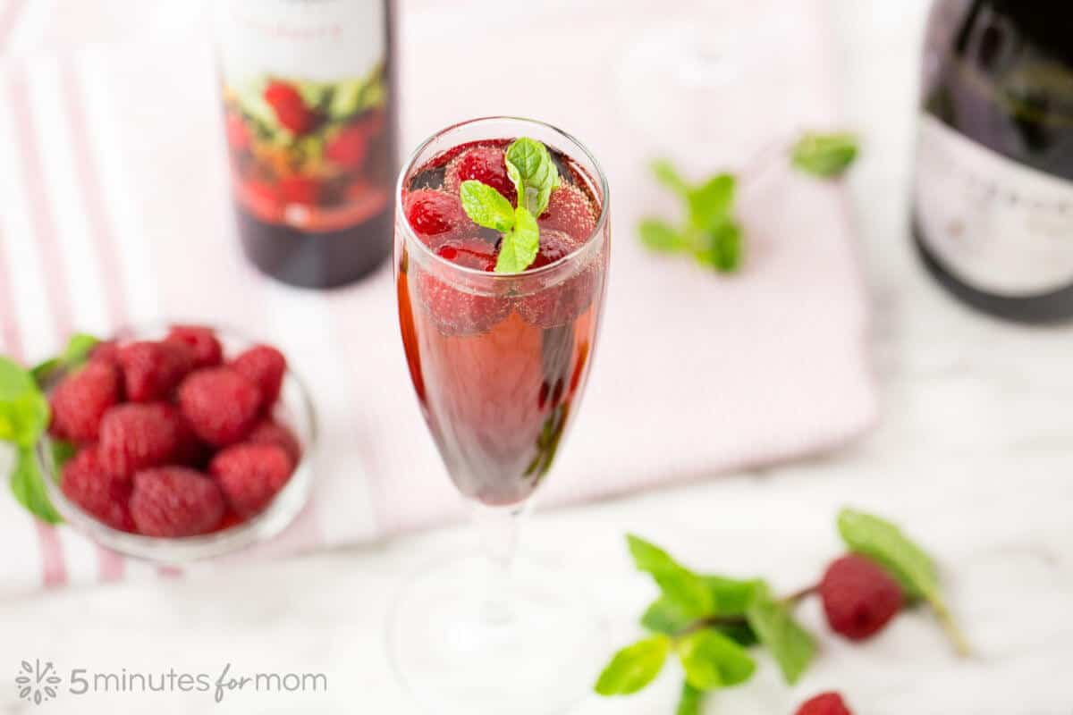 Raspberry Sparkling Wine Cocktail