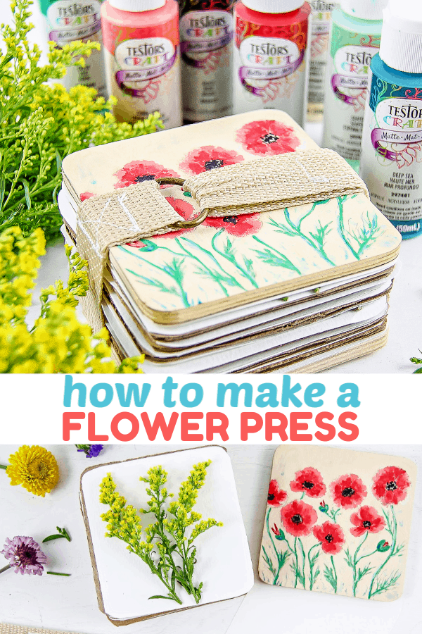 DIY Flower Press - Spring Craft - How To Press Flowers #springcraft #diy #flowers