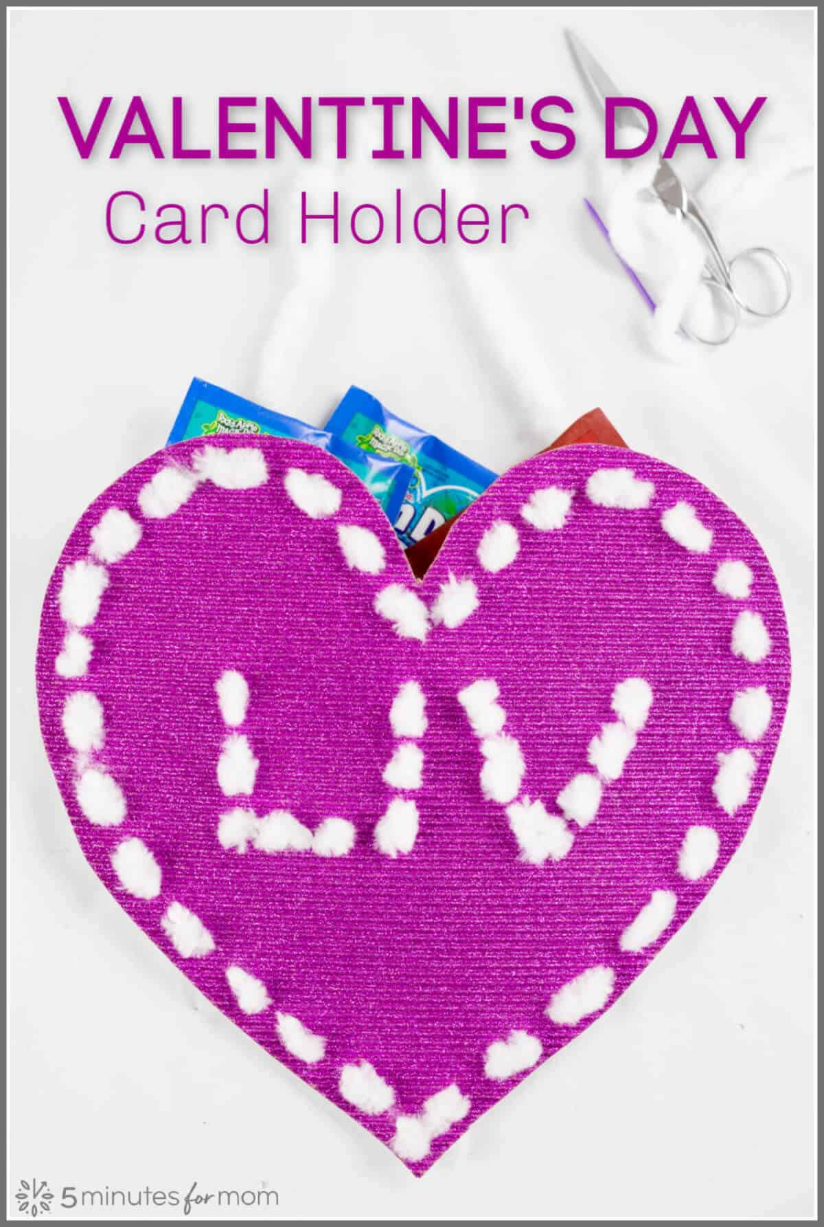 Valentine Card Holder - A fun and easy Valentine's Day card holder idea for school or home.