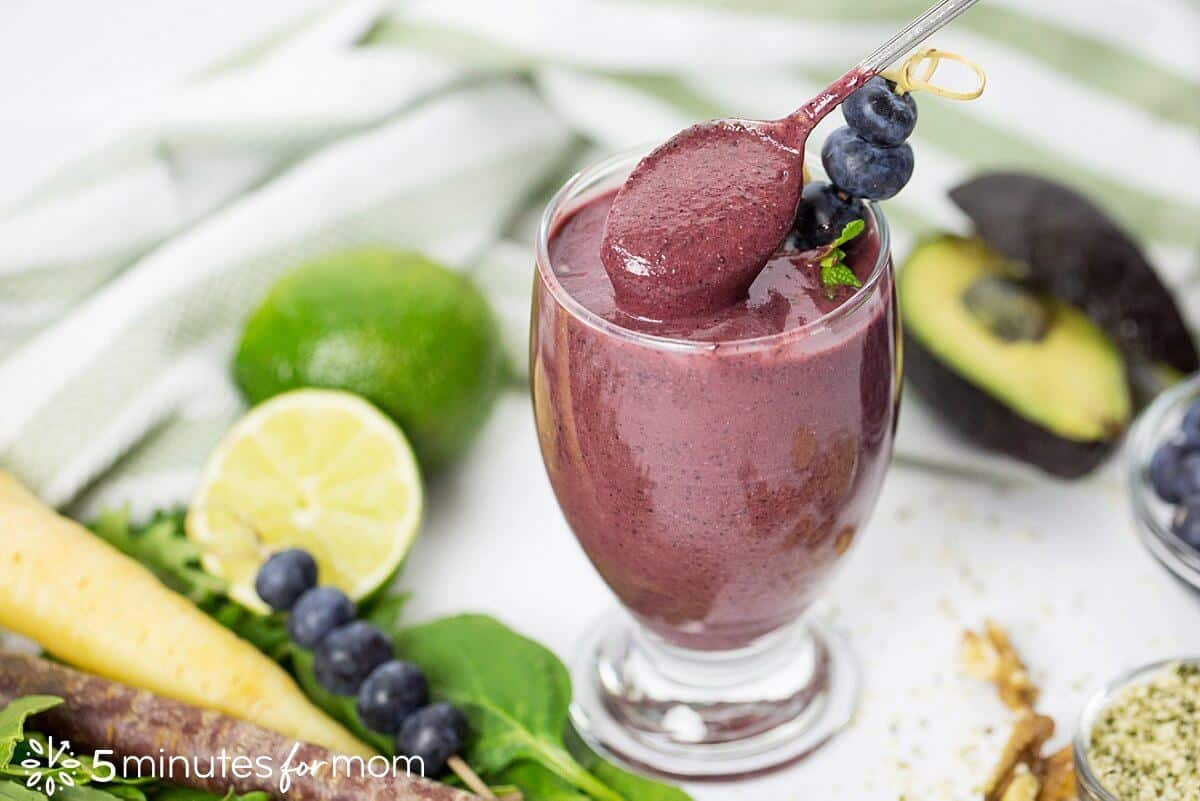 Blueberry Avocado Smoothie
