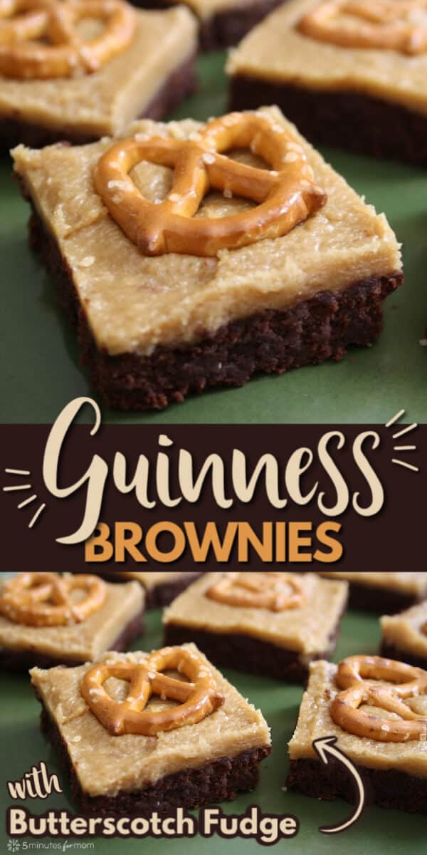 Guinness Brownies with Butterscotch Fudge - Dessert Recipe