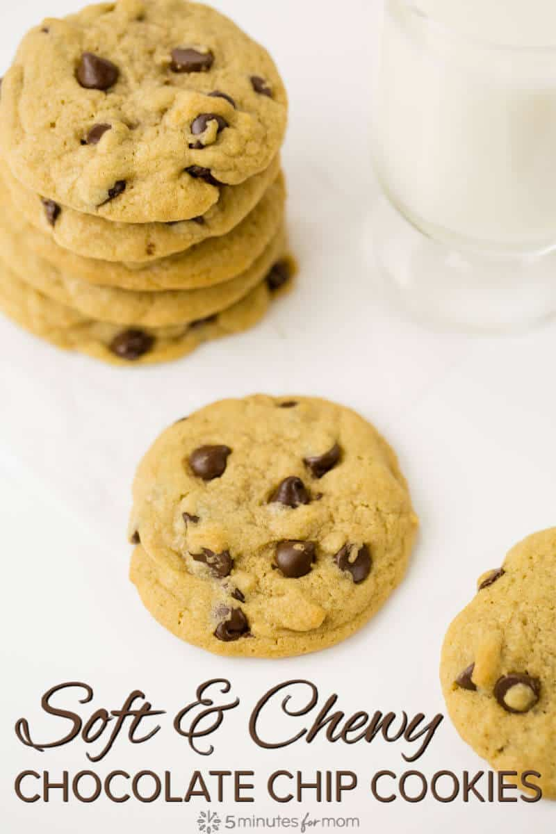 Soft and Chewy Chocolate Chip Cookies - Find out the science behind baking the perfect chocolate chip cookies. #chocolatechip #cookies