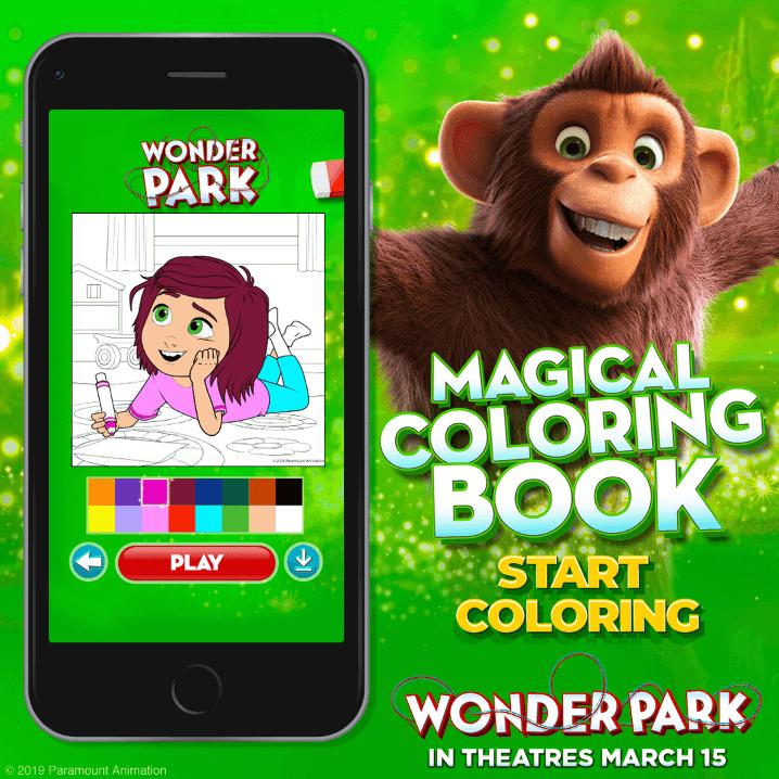 Wonder Park Activities - Coloring Book