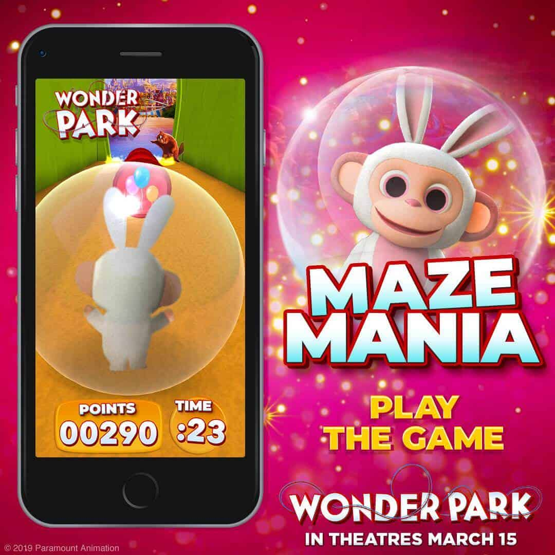 Wonder Park Activities - Maze Mania