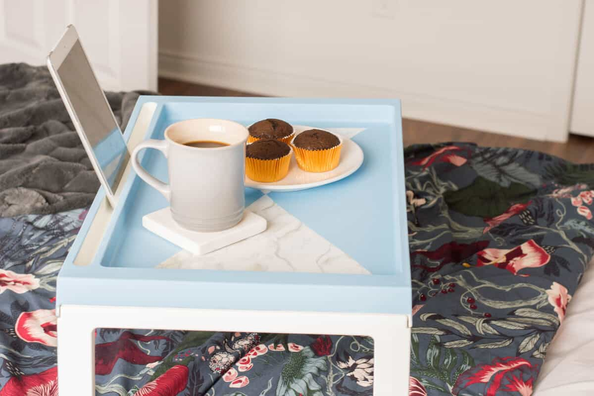 IKEA Hack Breakfast Tray DIY - Perfect Mother's Day Gift Idea