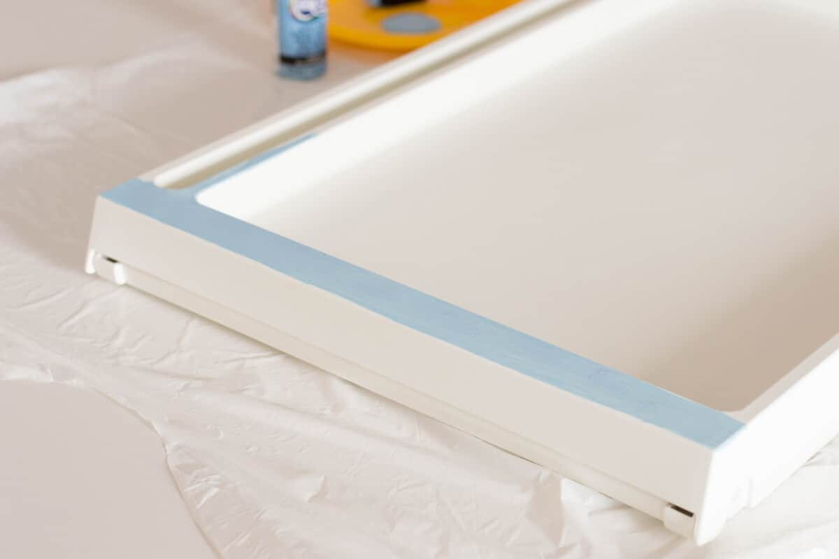 Painting the IKEA Bed Tray