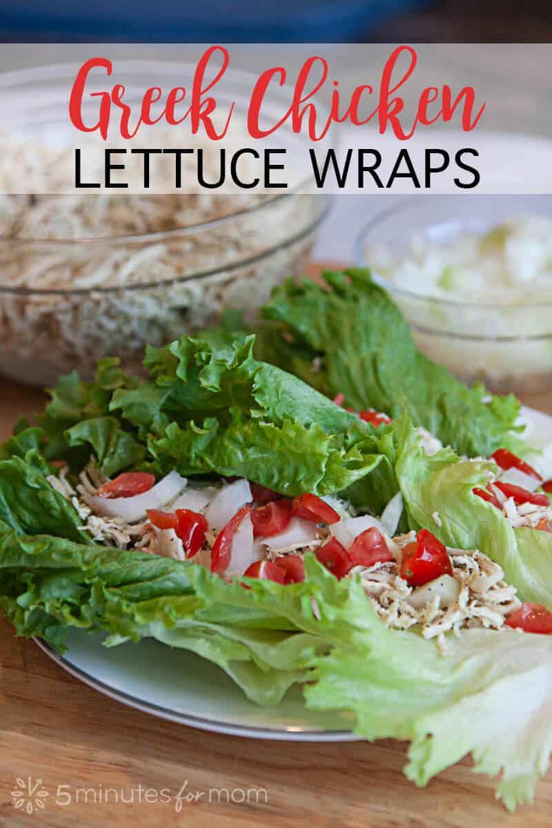 Greek Chicken Lettuce Wraps