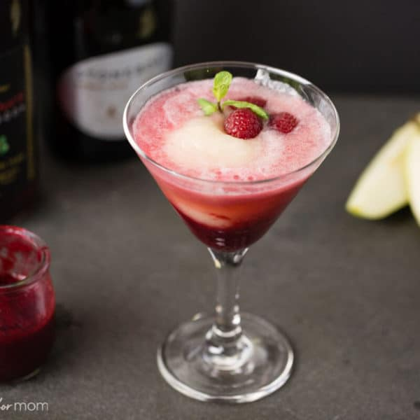 Raspberry, Pomegranate and Pear Bellini