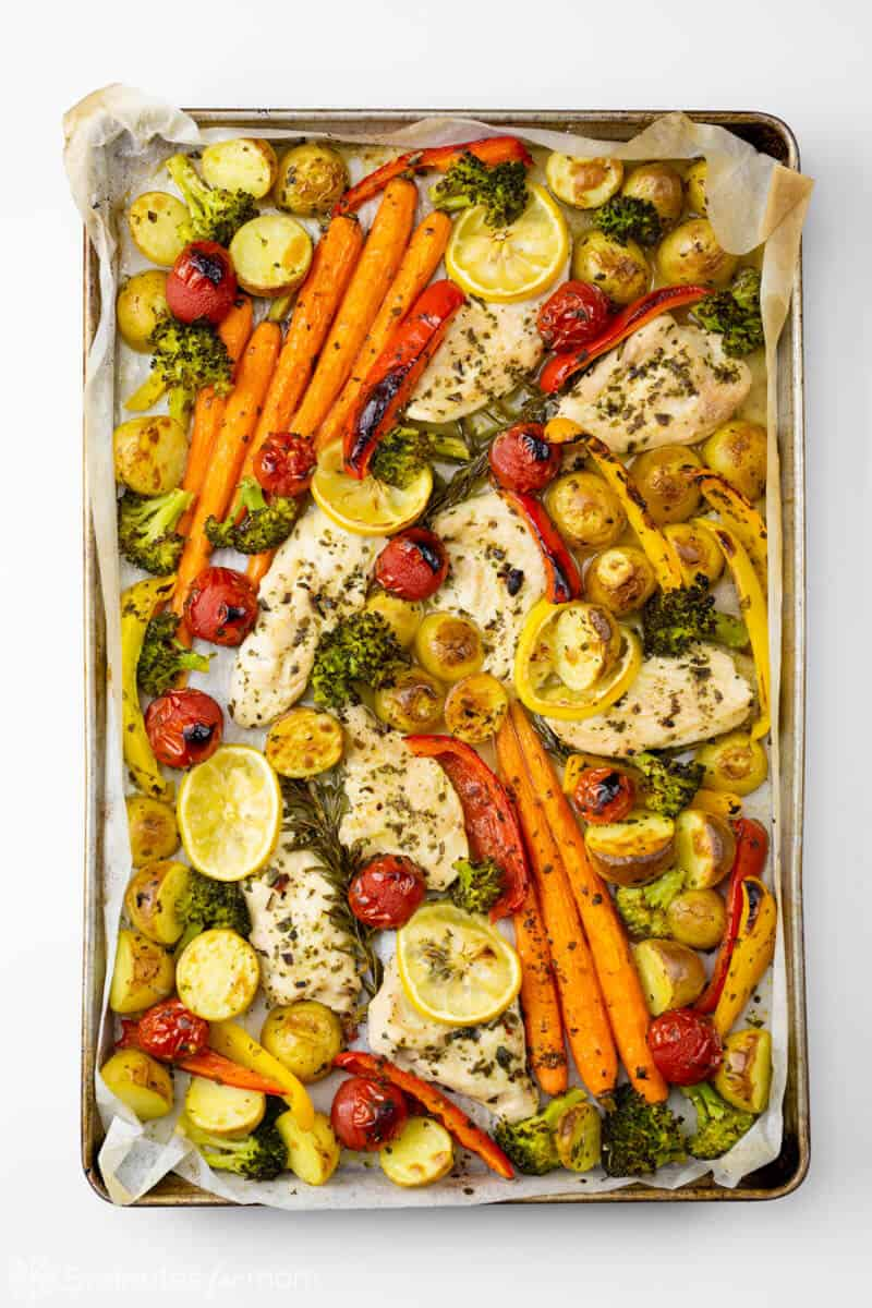 Sheet Pan Lemon Rosemary Chicken and Potatoes