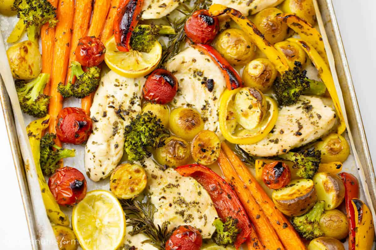 Sheet Pan Lemon Rosemary Chicken Recipe