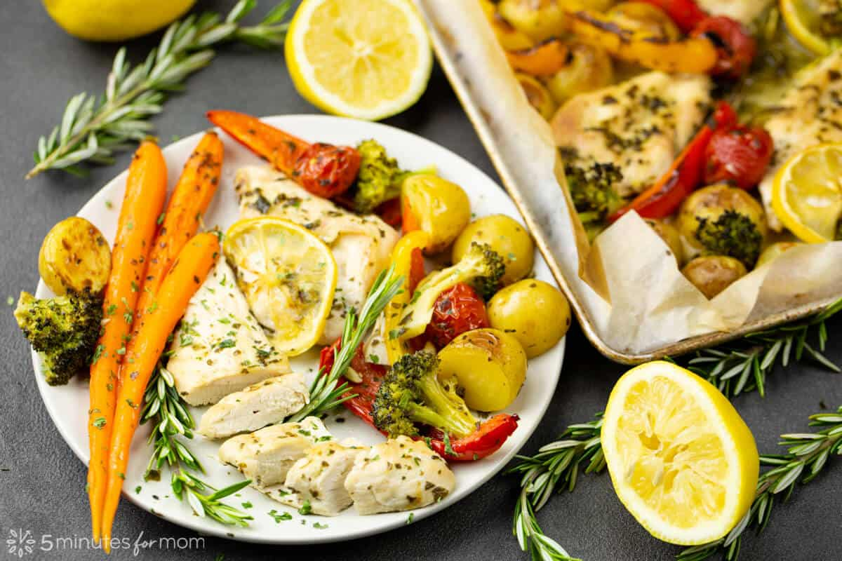 Sheet Pan Lemon Rosemary Chicken