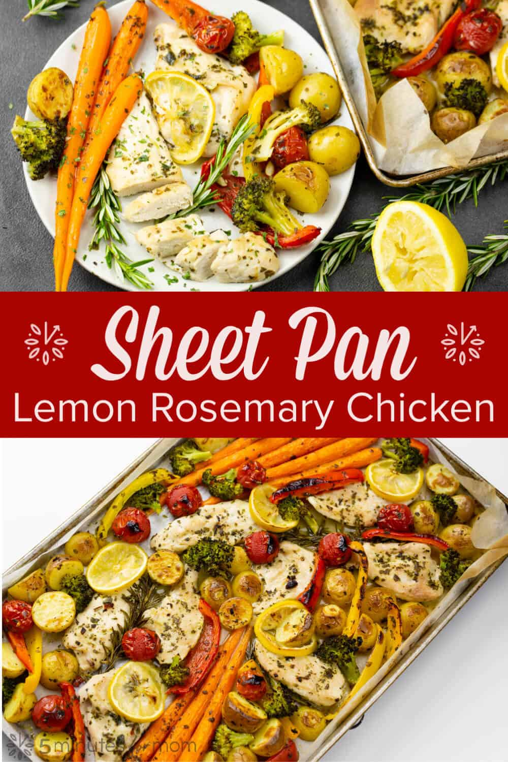 Sheet Pan Lemon Rosemary Chicken - Easy One Pan Dinner