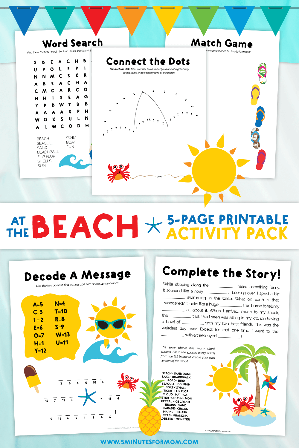 Summer Word Search and Activity Sheets