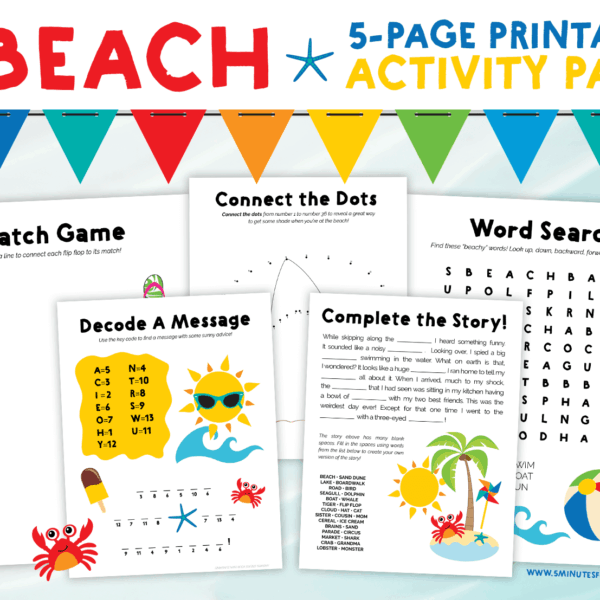 Summer Word Search Puzzles For Kids