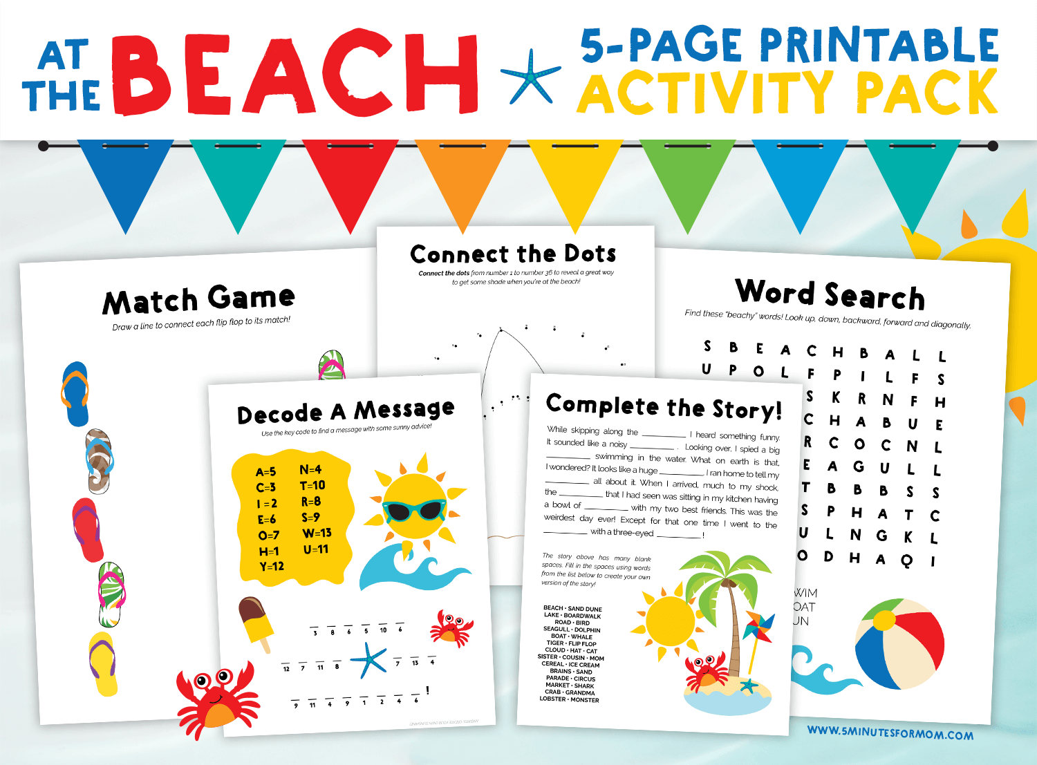 Summer Word Search and Puzzles Activity Pack - Free Printables