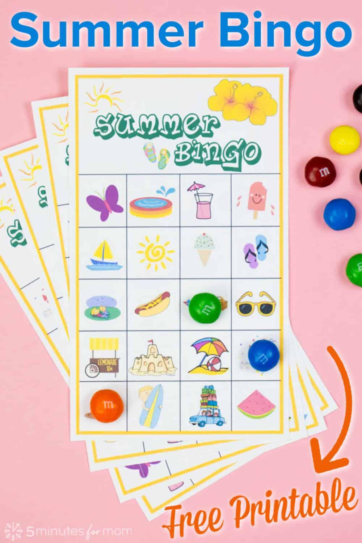 Summer Bingo for Kids Printable