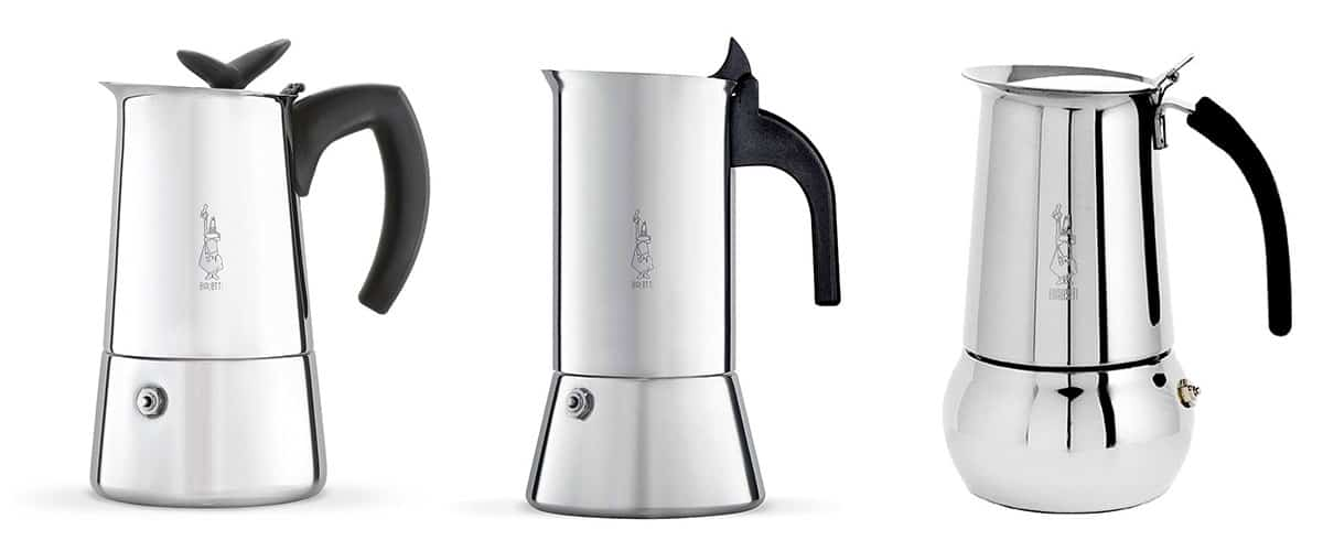 Bialetti Stainless Steel Stovetop Espresso Makers