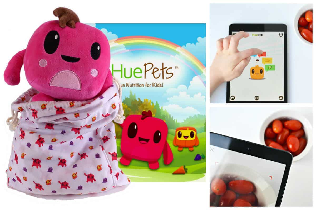 HuePets Stuffed Toy with Coloring Book and App