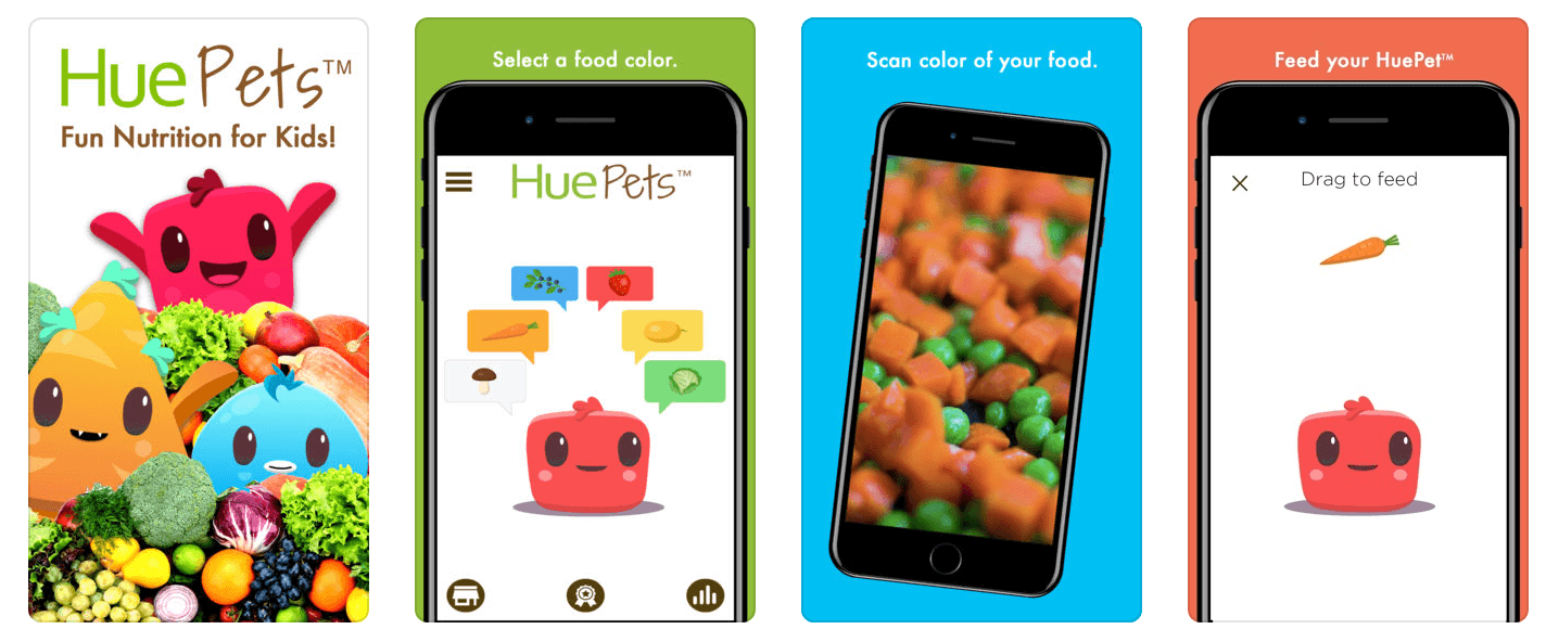 HueTrition HuePets App Screens