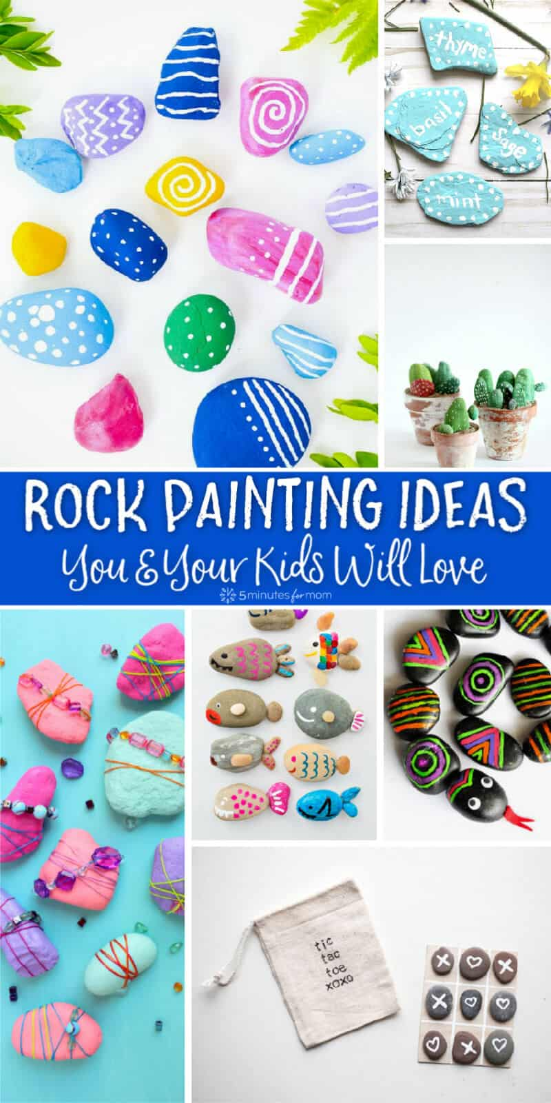 Rock Painting Ideas You and Your Kids Will Love