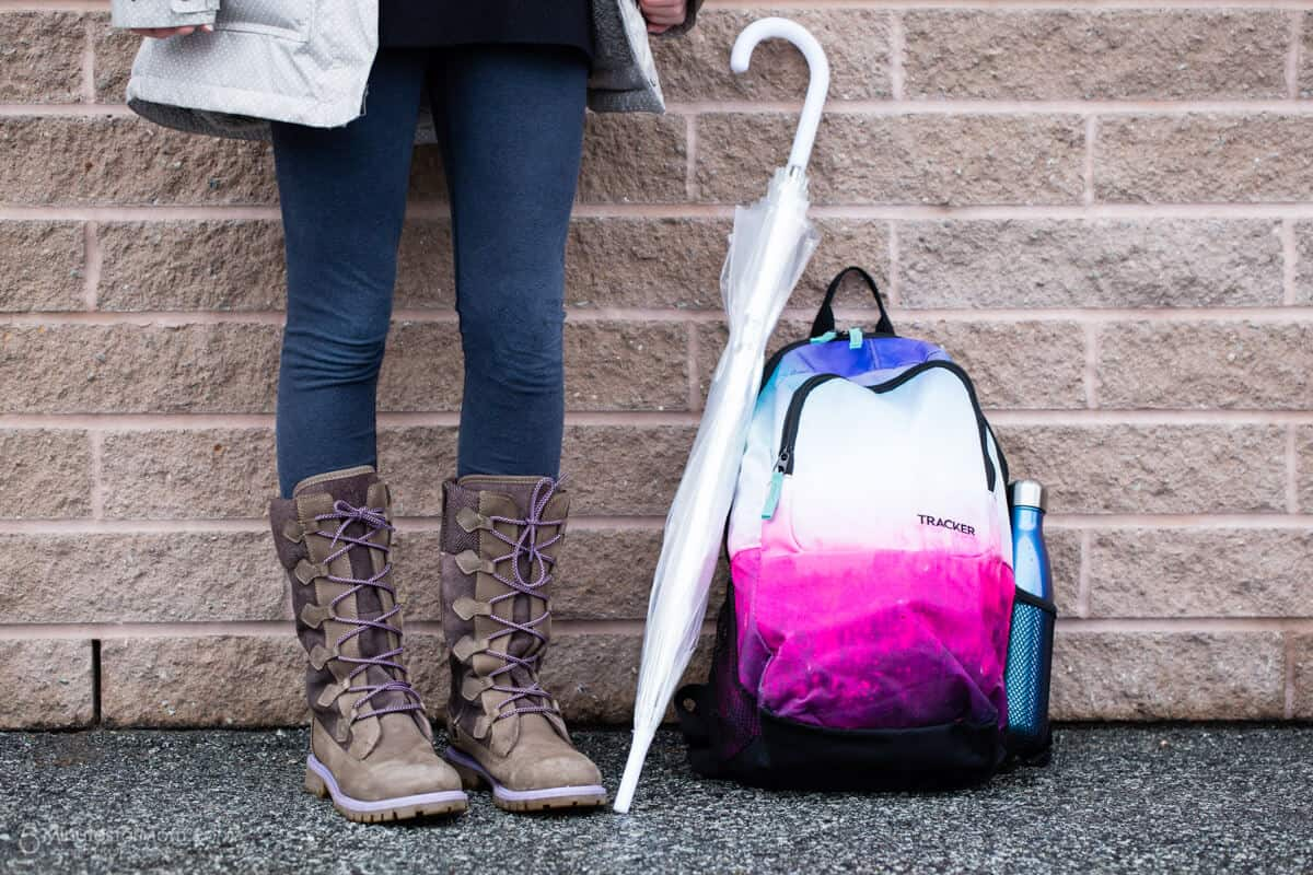 Back to School Shopping - Boots Backpack and Umbrella