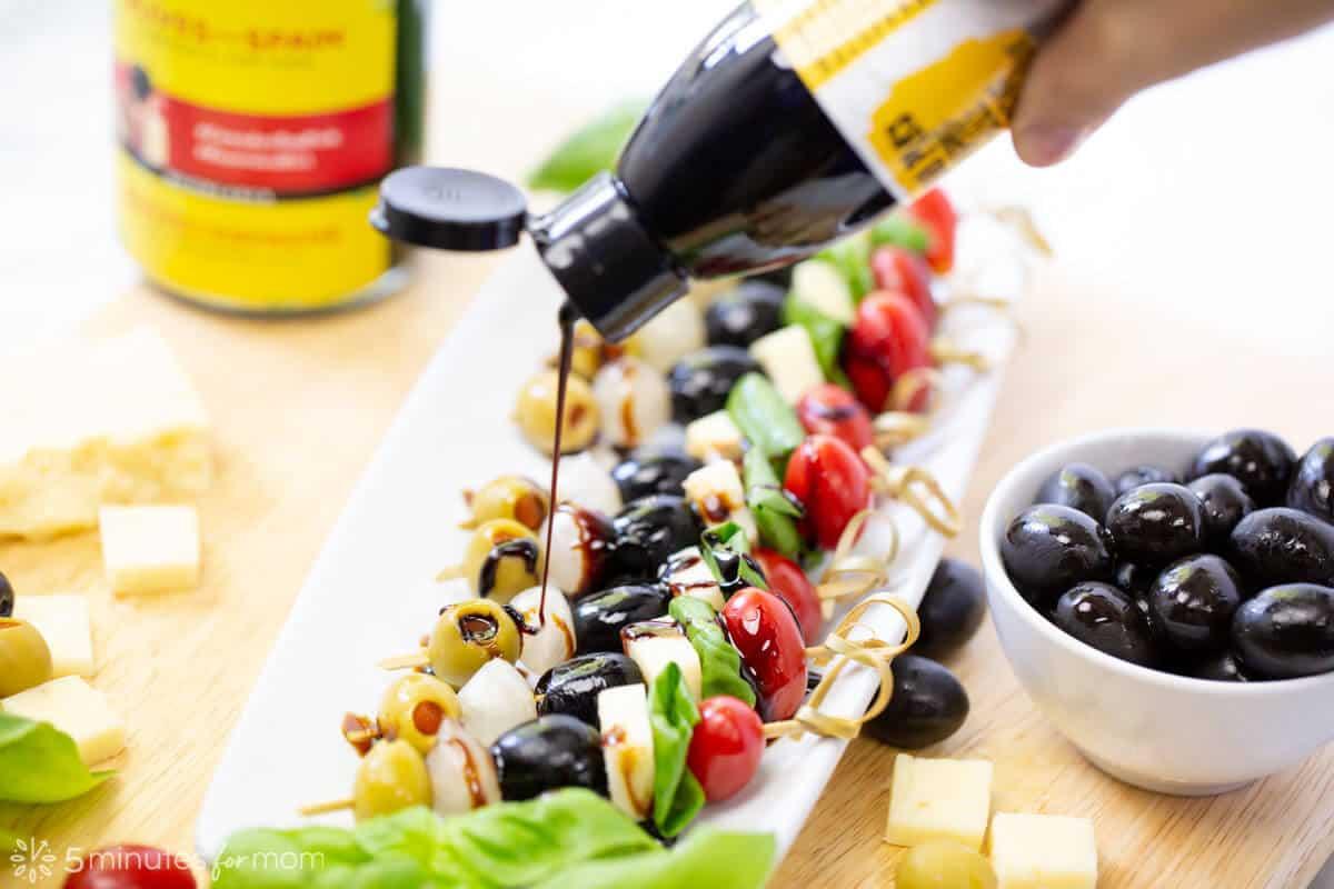 Spanish olive banderillas