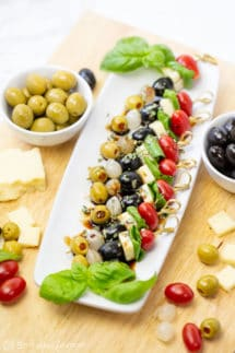 Easy Appetizer Skewers with Olives from Spain Recipe