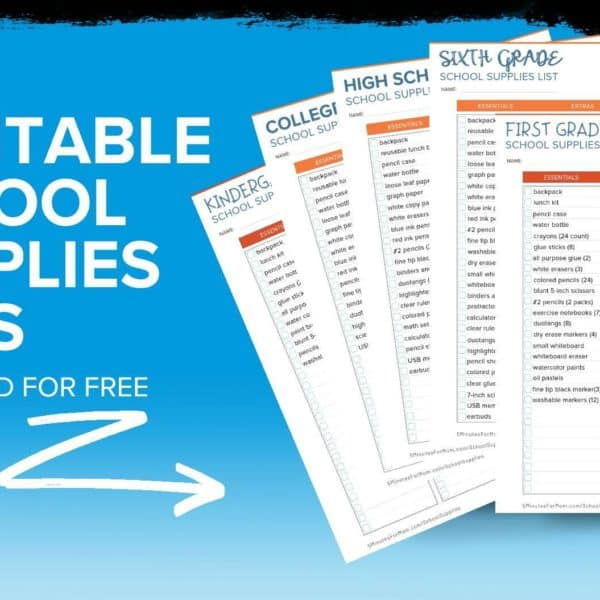 School Supplies List and Back to School Shopping Guide