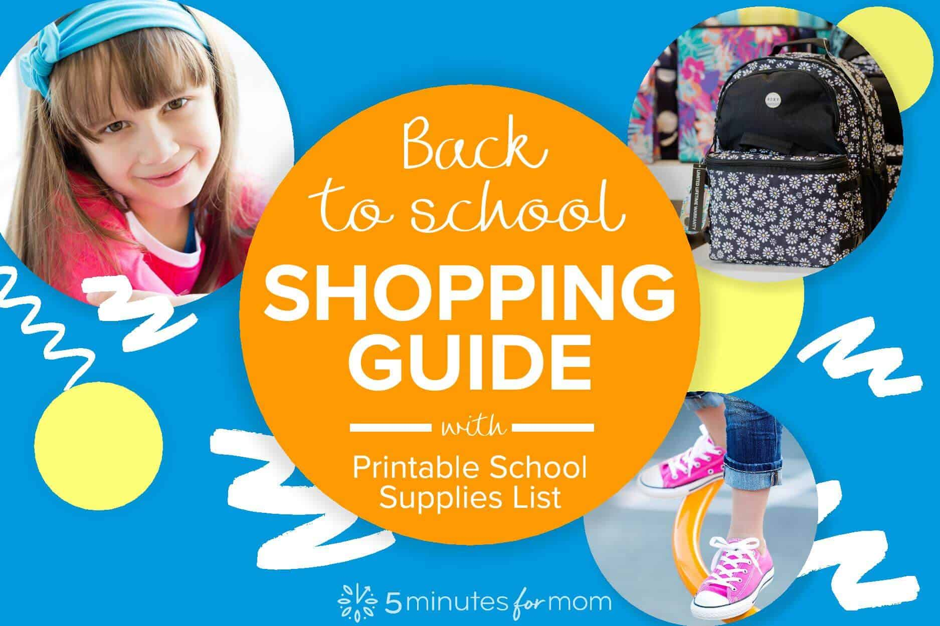 School Supplies Lists and Back to School Shopping