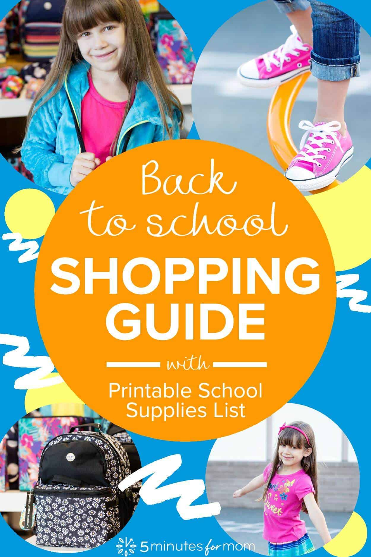 Ultimate Back To School Guide with Printable School Supplies