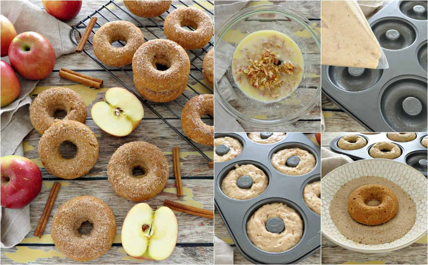 Apple Cinnamon Baked Donuts Recipe