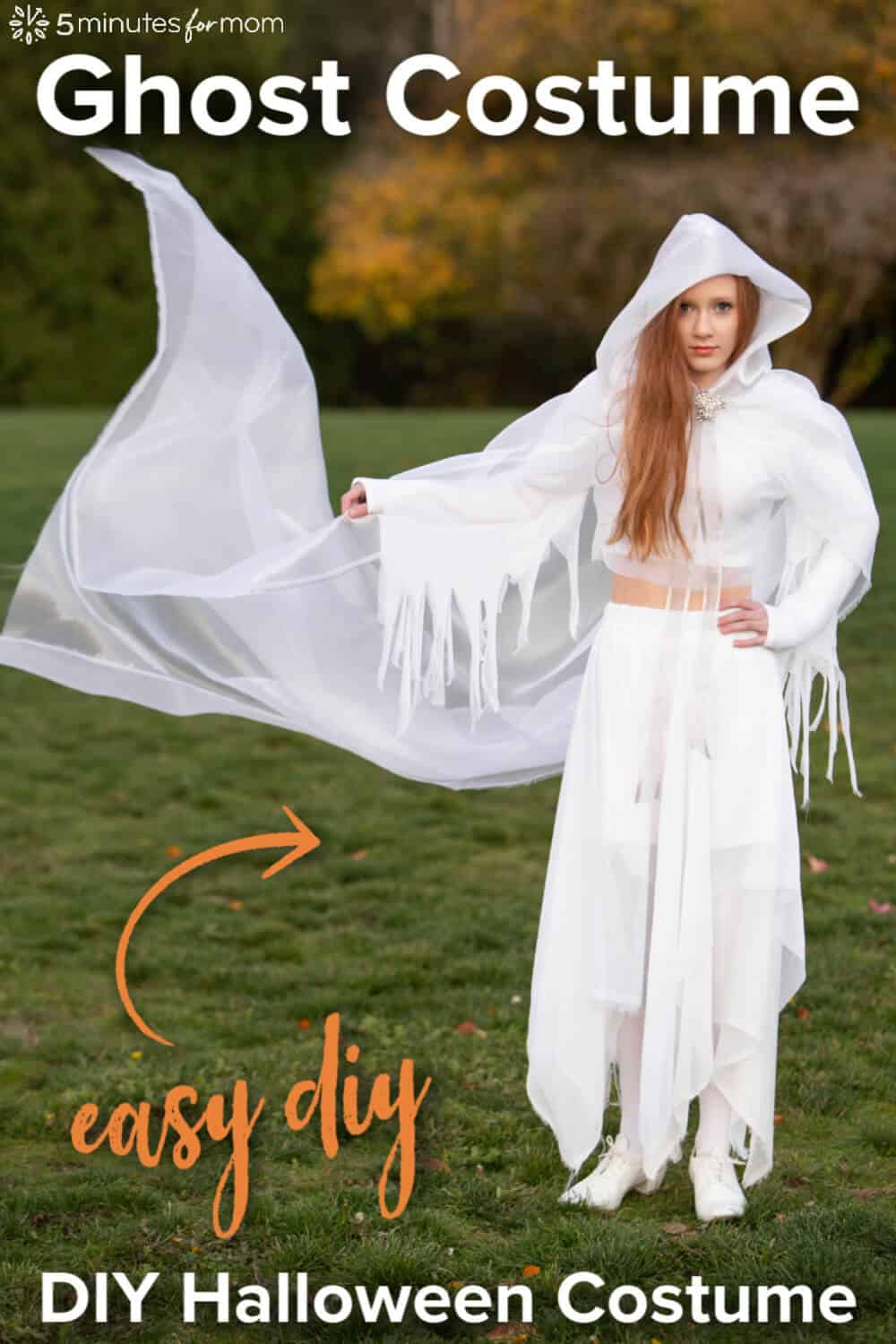 DIY Ghost Costume - How To Make A Stunning Ghost Halloween Costume