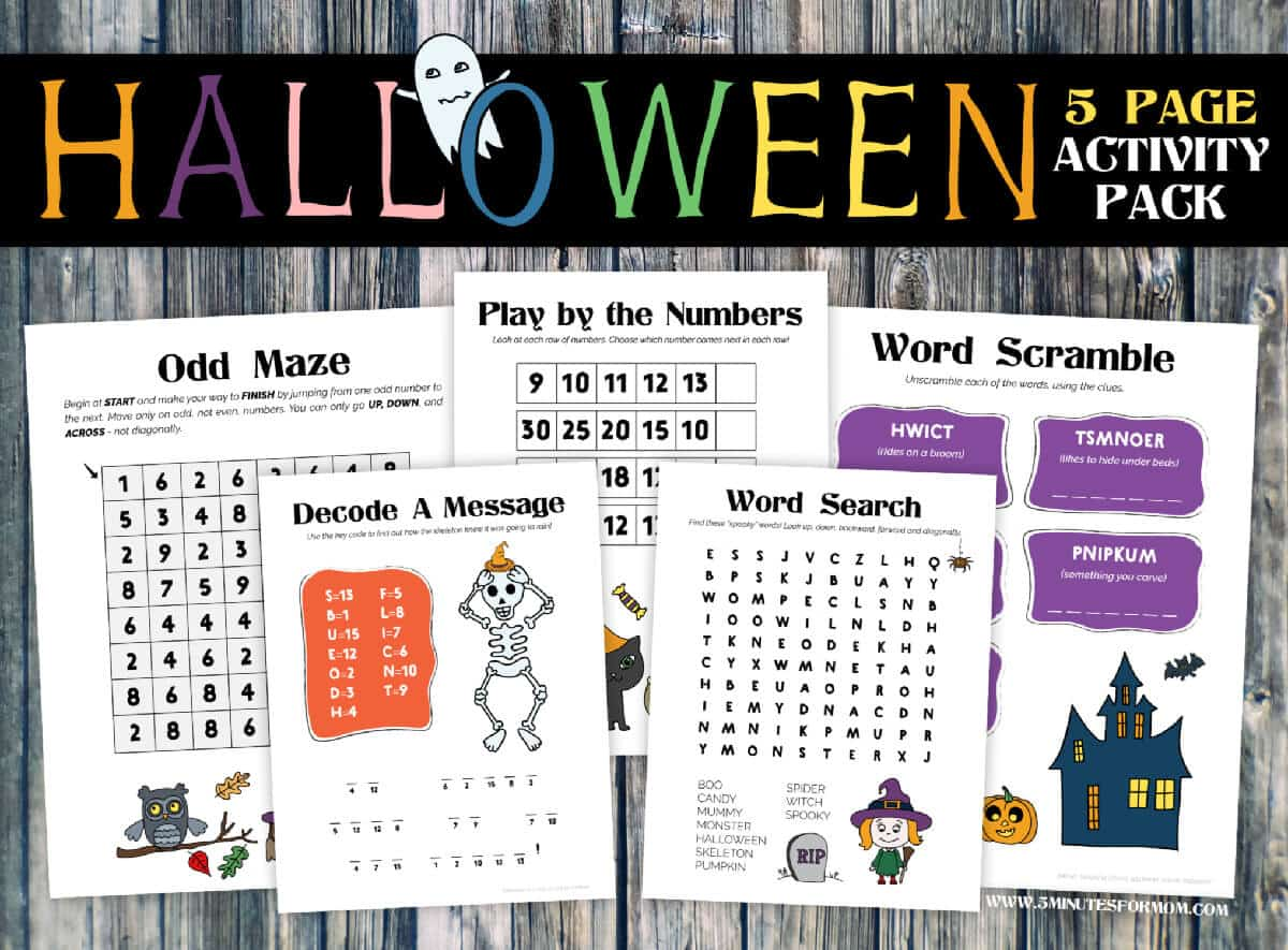 Free Halloween Printables for Kids - Halloween Activity Pack