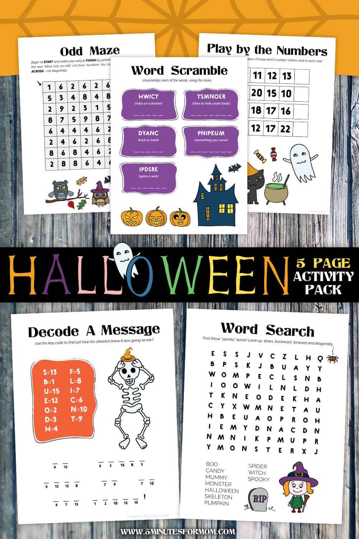 Halloween Printables for Kids - Free Halloween Activity Pack Printable