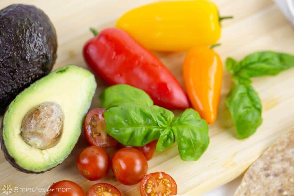 Mediterranean Wrap Ingredients
