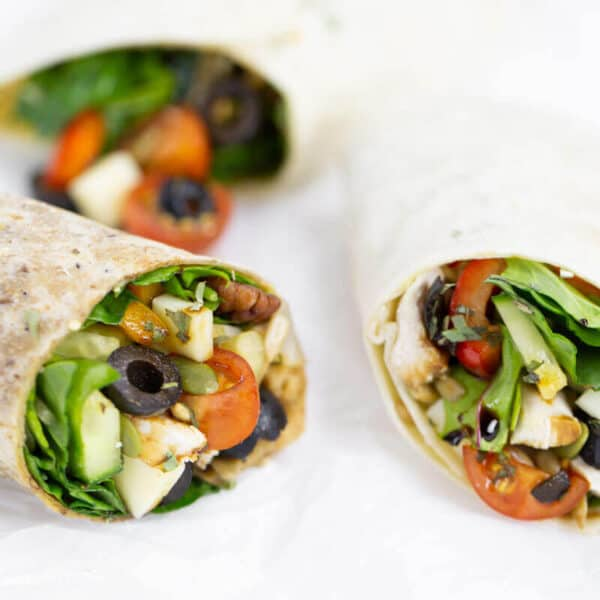 Mediterranean Wrap with Hojiblanca Olives from Spain